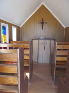 Inside the Little Wayside Church